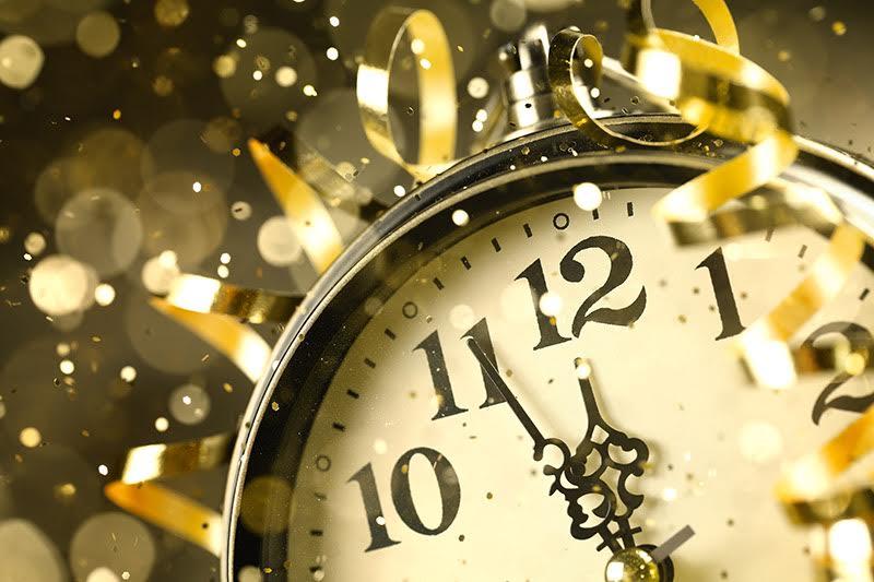 Nearly Twelve O'clock Midnight,New Year Concept.