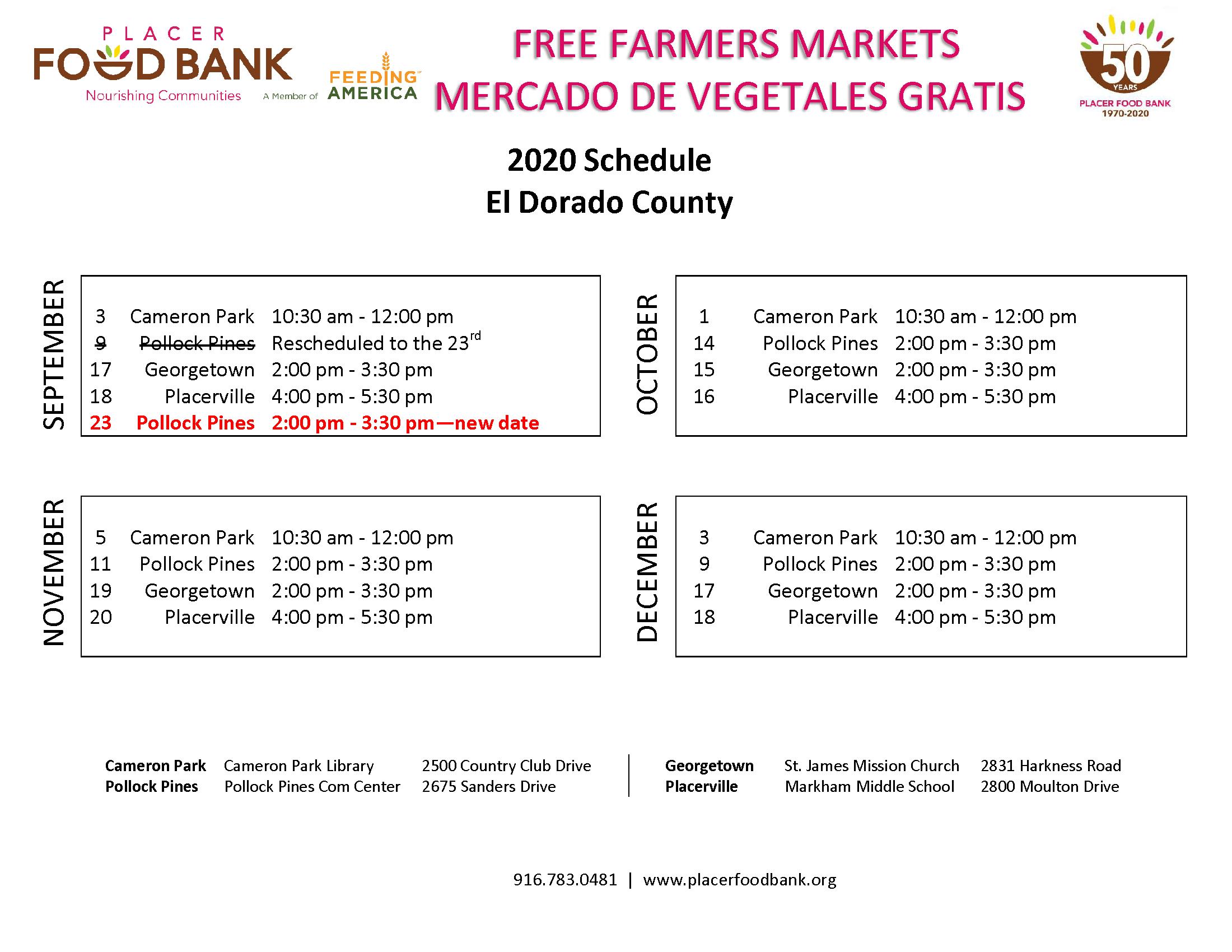 FFM Schedule - El Dorado County 2020-resvised 9.8.20